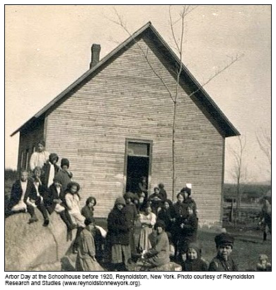 Arbor-Day-at-the-Schoolhouse-before-1920-Reynoldston-New-York