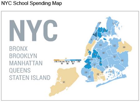 NYC School Spending Overview Map