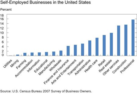 Self-Employed Businesses in the United States